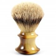 Frank Shaving Rakborste Faux Horn Silvertip