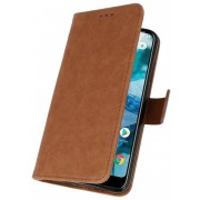 Bookstyle Wallet Cases Hoesje voor Nokia 8.1 Bruin