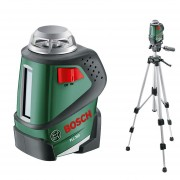 Bosch PLL 360 Set nivela laser plan, 20m, precizie 0.4 mm m + Stativ + Geanta protectie