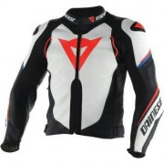 DAINESE Chaqueta Dainese Super Speed D1 White / Black / Fluo Red