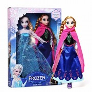 Frozen Princess Elsa Anna Barbie Dolls Kids Cartoon Toys for Children Girl Doll