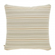 Kave Home Capa de almofada Sydelle 60 x 60 cm com riscas castanho