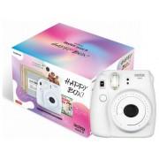 Fujifilm Kit Cámara Instantánea FUJIFILM Instax Mini 9 Happy Box (Smoky White - Obturación: 1/60 s - 2 x AA)
