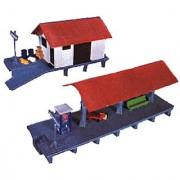 Life-Like Trains HO Scale Building Kits - Train Station