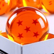 ANDOO (Large/76MM) Star Dragonball Z Stars Crystal Replica Ball with Gift Box(Large/5 Stars)