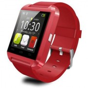 U8 BLUETOOTH SMARTWATCH COMPATIBLE WITH ANDROID IPHONE ( RED COLOR)
