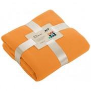 James & Nicholson Fleece dekentje in oranje kleur