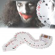 ER Jugar Poker Tarjeta Cerca De Truco De Magia Props Baraja De Cartas Juguetes Para Regalo - Rojo