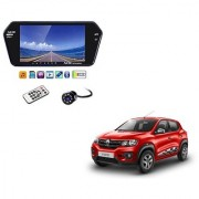 7 Inch Full HD Bluetooth LED Video Monitor Screen with USB Bluetooth + 8 LED Reverse Parking Camera For Renault Kwid