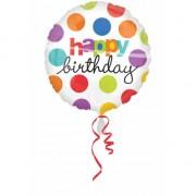 Folat Folie ballonnen Birthday gekleurd