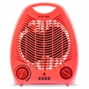 Aeroterma electrica Zass ZFH 02C culoare rosu 2 trepte de putere: 1000W 2000W