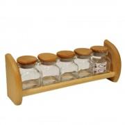 Koreničky sklenené 5 nádob + polička President line WW