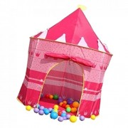 Phenovo Children Kids Playhouse Pink Pop-up Princess Folding Play Tent Castle Indoor Outdoor Sports Toy