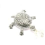 Handmade 925 Sterling Silver Unisex Charm Pendant Animal Tortoise Reptile figure
