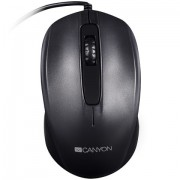 Mouse, CANYON CNE-CMS01B, Optical, 3 buttons, DPI 1000, Black