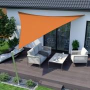Jarolift Voile d'ombrage triangulaire, tissu respirant, orange, 500x500x500 cm