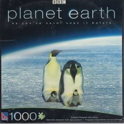 PLANET EARTH - Emperor Penguins with Chicks - 1000 Piece Jigsaw Puzzle