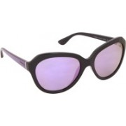 Vogue Oval Sunglasses(Grey, Violet)