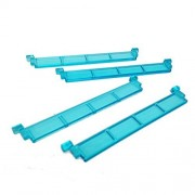 Lego Parts: City - Garage Roller Door Section Without Handle (Service Pack of 4 - Transparent Light Blue)