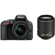 Nikon d5500 + 18-55mm af-p dx vr + 55-200mm vr ii - nero - man. ita