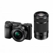 Sony Alpha A6000 16-50 f/3.5-5.6 55-210 f/4.5-6.3 OSS KIT Mirrorless digitalni fotoaparat s dva zoom objektiva SEL1650 16-50mm SEL55210 55-210mm F4.5-6.3 ILCE-6000YB ILCE6000YB ILCE6000YB.CEC ILCE6000YB.CEC