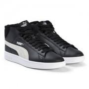 Puma Smash v2 Mid Fur Junior Sneakers Svart Barnskor 36 (UK 3.5)