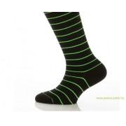 Gyerek zokni - Neon zöld csíkos 37-38