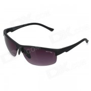 Oulaiou 3109 exterior de seguridad antiexplosion PC Ciclismo gafas - Gris + Negro