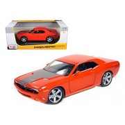 Maisto Dodge Challenger Concept, Orange - Premiere 36138 1/18 Scale Diecast Model Toy Car