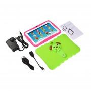 7 Pulgadas Quad Core Niños Aprendiendo Tablet PC 1GB RAM +8GB ROM Para Android 4.4 Verde