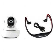 Zemini Wifi CCTV Camera and BS19C Bluetooth Headset for LG OPTIMUS VU(Wifi CCTV Camera with night vision  BS19C Bluetooth Headset With Mic )