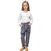 Sanlutoz Princesa Chicas Ropa Conjunto Casual Encaje Ropa de niños 2pcs Camiseta + pantalón (11-12 años / 150cm, KTW7147-KPW7151)
