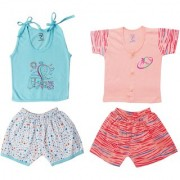 Jo kids wear Baby boy Cotton top and Shorts Set Set of 2