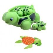 New Cute Set Of Turtle Family Bath Set set of 4 - Bath Tub Toy 6 Mini Plush Sea Turtle toy for kids