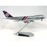 GeminiJets Flying Tigers Boeing 747-200 Diecast Airplane Model N800FT with Chrome Stand 1:400 Scale Part# GJFTL1207