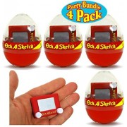 Mini Collectible Etch A Sketch in Plastic Egg Gift Set Party Bundle - 4 Pack