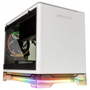 Carcasa In Win A1 Plus Tempered Glass Mini-ITX White, ARGB, sursa 650W Gold, IW-A1PLUS-WHITE