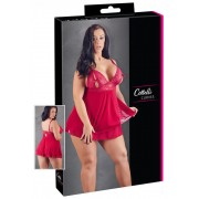 Cottelli Plus Size - Lace-up Baby Babydoll (Red)