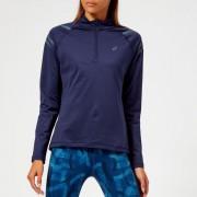 Asics Women's Icon Winter Long Sleeve 1/2 Zip Top - Peacoat/Ironclad - XS - Blue