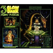 Glow in the Dark 3 Pack Darkness At Sethanon 500 Seer 300 Questing Hero 100 Piece Puzzle
