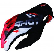 Shot Devo Ultimate Motocross Gloves Black Red 2XL