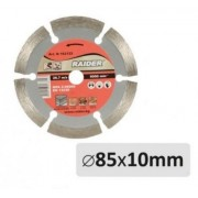 Диск диамантен за сухо рязане ф85x10мм - Raider
