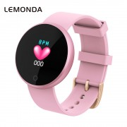 LEMONDA WB36 1.04-inch Screen Fitness Tracker Smart Sports Bracelet Heart Rate Female Physiological Reminder for IOS Android - Pink