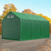 TOOLPORT Opslagtent 3x6m PVC 550 g/m² donkergroen waterdicht Tenthal, Schuurtent