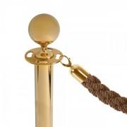 Jansen Display Modrý provaz na barierový sloupek, zlaté koncovky bronzová