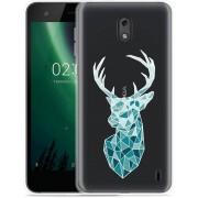 Nokia 2 Hoesje Art Deco Deer