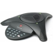 Polycom SoundStation2 (analog) conference phone without display. Non-expandable. Includes 220V-240V AC power/telco module, power cord with CEE7/7 plug, 6.4m console cable, 2.8m telco cable.