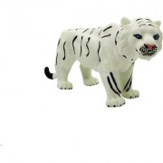 Emob Amazing Realistic Look Wildlife Animal White Tiger Figure Playset Toy for Kids (Multicolor)