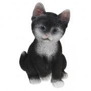 Geen Zittende katten beeldje zwart 19 cm - Action products
