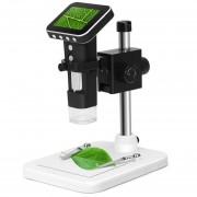 500X USB Zoom Magnifier 3MP Sensor De Imagen De Microscopio Digital Con Pantalla De 2,5 Pulgadas Y 8 LED Y Soporte Profesional, Soporte De Tarjeta TF
